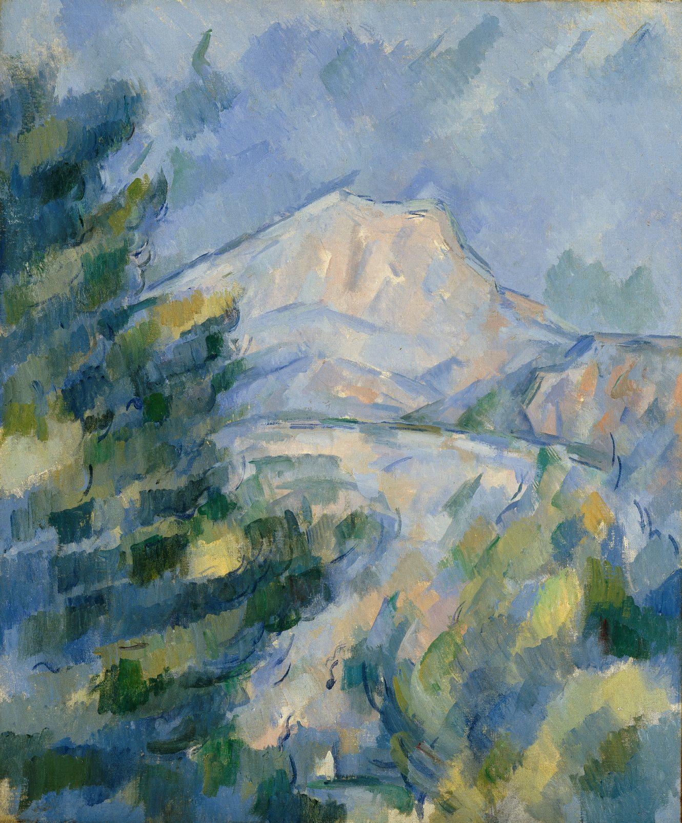 ポール・セザンヌ《サント=ヴィクトワール山》1904 -1906年頃 Bequest of Robert H. Tannahill