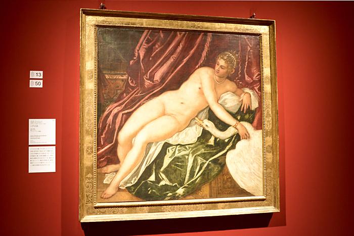 ヤコポ・ティントレット《レダと白鳥》1551-55 年頃、フィレンツェ、ウフィツィ美術館