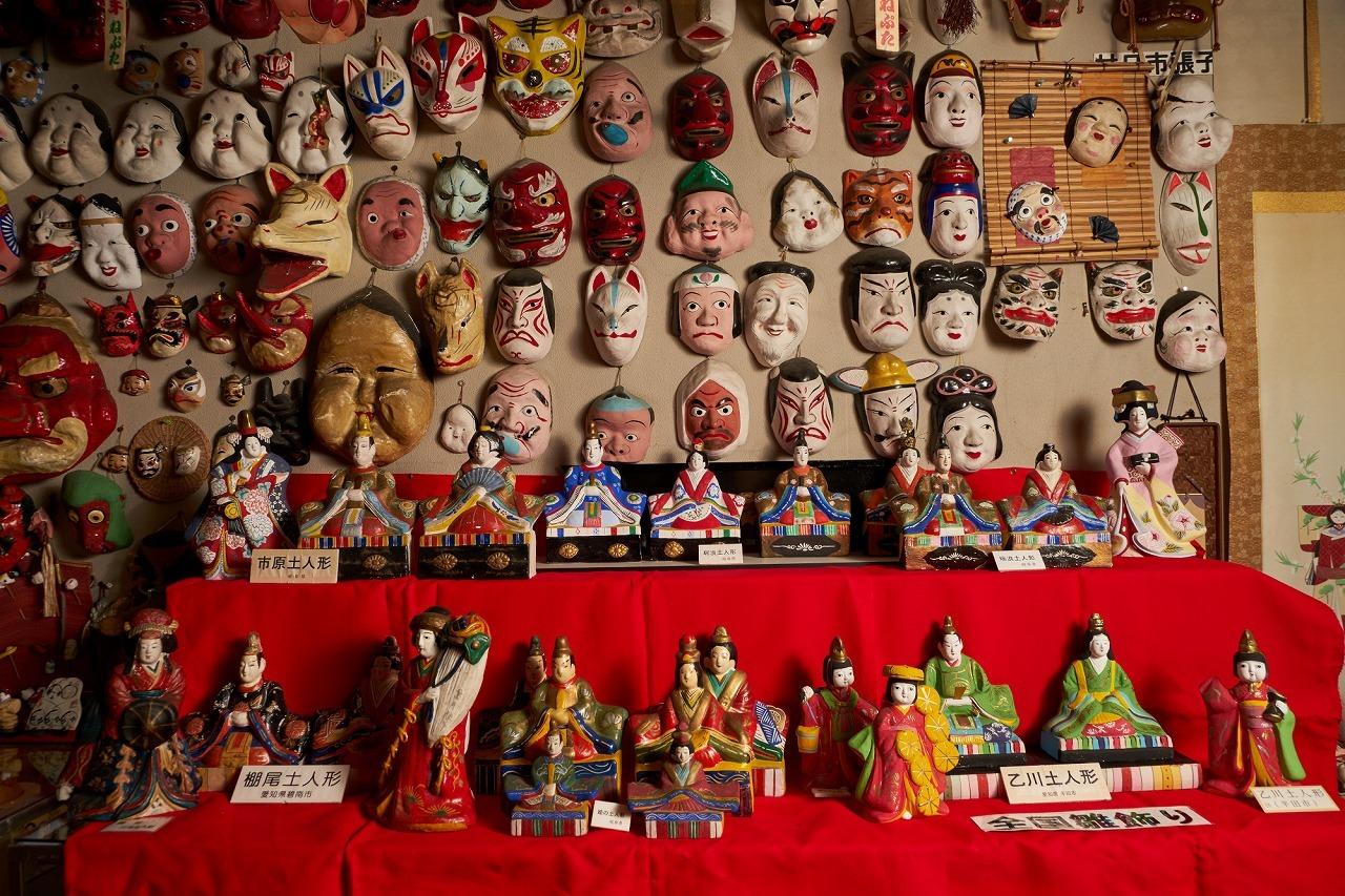 日本土鈴館での展示の様子