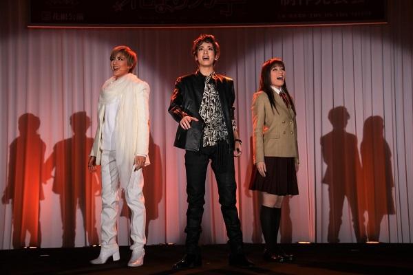 (左から)聖乃あすか、柚香光、城妃美伶