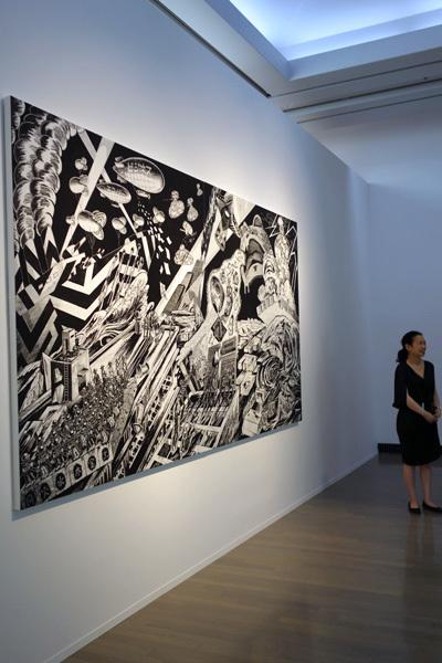 風間サチコ《第一次幻惑大戦》2017  ヨコハマトリエンナーレ2017 展示風景