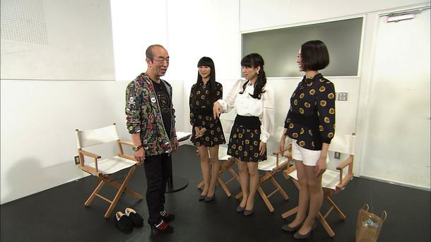 左から志村けん、かしゆか、あ~ちゃん、のっち。(写真提供:NHK)