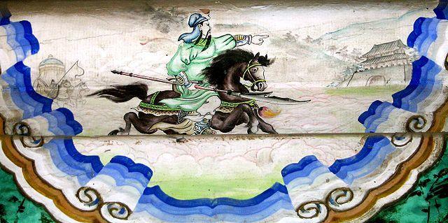 赤兎馬に騎乗している関羽/Shizhao/2005年11月1日 出典=ウィキメディア・コモンズ (Wikimedia Commons)