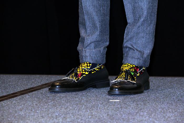 この日の桐谷の靴はこんなデザイン!シャレオツ!