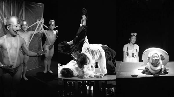 対ゲキツアー名古屋公演より(写真左から短距離男道ミサイル→オレンヂスタ→コトリ会議)