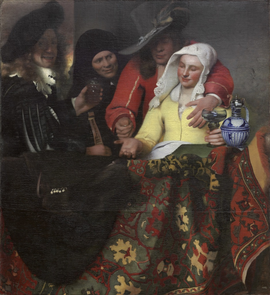 ヨハネス・フェルメール 《取り持ち女》1656年 油彩・カンヴァス 143x130cm ドレスデン国立古典絵画館 bpk / Staatliche Kunstsammlungen Dresden / Herbert Boswank / distributed by AMF