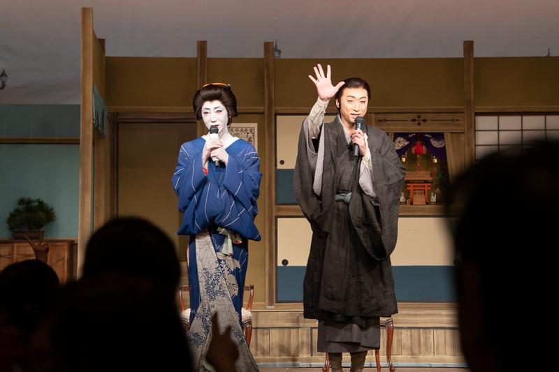 (左から)河合雪之丞、喜多村緑郎