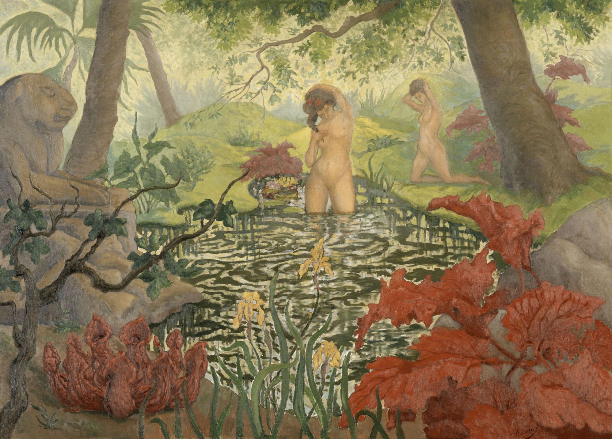 ポール・ランソン 《水浴》 1906年頃 油彩/カンヴァス © RMN-Grand Palais (musée d'Orsay) / Hervé Lewandowski / distributed by AMF