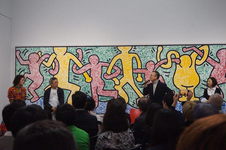 (左から)藤原えりみ氏、村田真氏、中村キース・ヘリング美術館館長 中村和男氏、美術館 顧問 梁瀬氏 All Keith Haring Works ©︎ Keith Haring Foundation