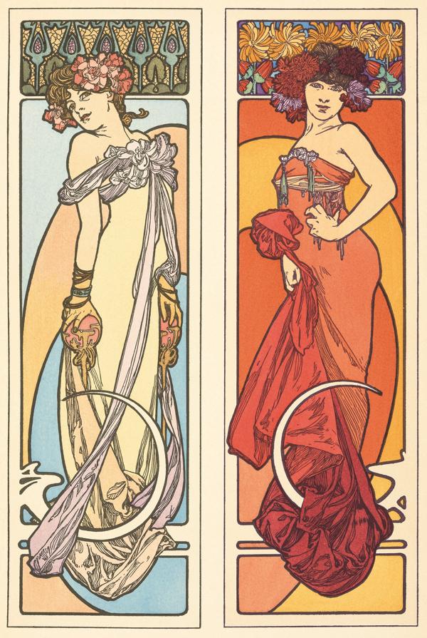 アルフォンス・ミュシャ 《『装飾資料集』 図45》 1902年 カラーリトグラフ ミュシャ財団蔵 (C)Mucha Trust 2018