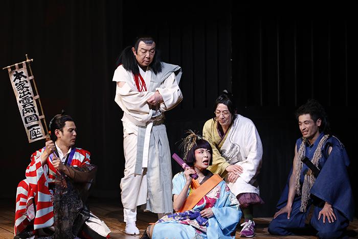 NODA・MAP『足跡姫』~時代錯誤冬幽~ ゲネプロより (写真撮影:中田智章)