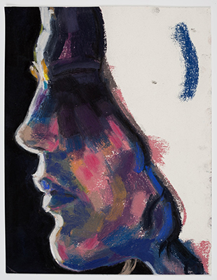『Tim (Profile)』 2013 紙にパステル 29.8×23.5cm (c)Elizabeth Peyton, courtesy Sadie Coles HQ, London, Gladstone Gallery, New York and Brussels, neugerriemschneider, Berlin