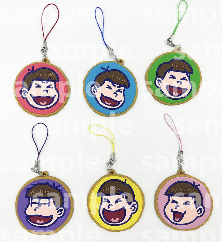 おそ松さんクッキー6つ子 トレーディングラバーストラップ  価格:800円(税込)
