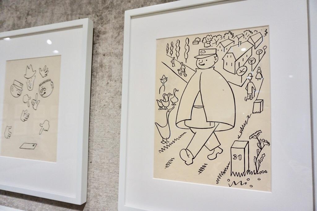 ヨゼフ・チャペック 《郵便屋さんの話(『長い長いお医者さんの話』より)》 1931年 インク、鉛筆/紙 30.0×22.0cm 個人蔵、プラハ