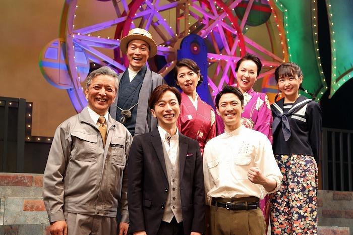 (前列左から)榎木孝明、河合郁人、辰巳雄大(後列左から)渋谷天笑、純名里沙、いしのようこ、惣田紗莉渚
