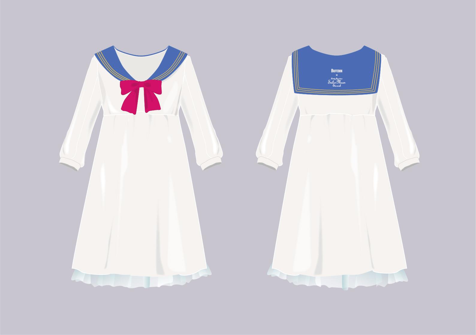 スーパーセーラームーンルームウェア(フリーサイズ:総丈 101 ㎝/袖丈 59 ㎝/肩巾 42 ㎝/バスト 100 ㎝) ※画像はイメージです。 ※景品の仕様やサイズは予告なく変更される場合があります。 (C)Naoko Takeuchi (C)武内直子・PNP/劇場版「美少女戦士セーラームーン Eternal」製作委員会