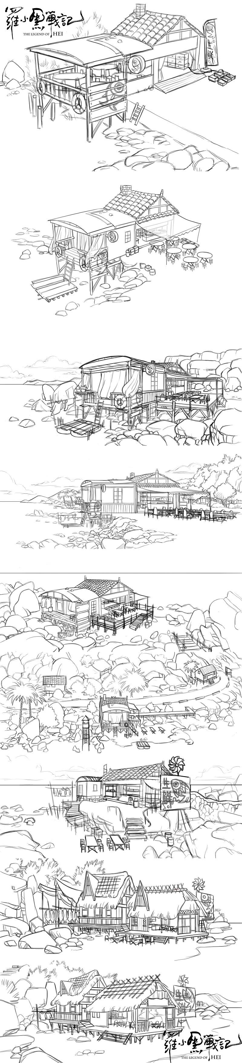 設定画〈海辺小店〉 (C) Beijing HMCH Anime Co.,Ltd
