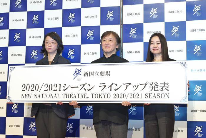 (左から)小川絵梨子、大野和士、吉田都 (撮影:長澤直子)