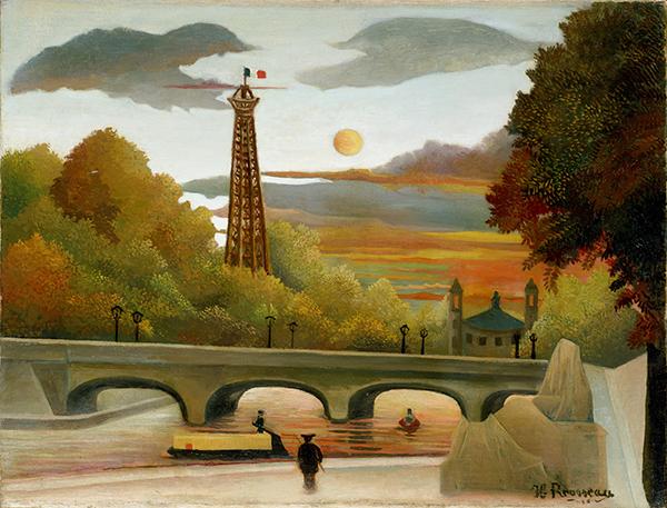 アンリ・ルソー《エッフェル塔とトロカデロ宮殿の眺望》1896-98年 油彩、カンヴァス ポーラ美術館