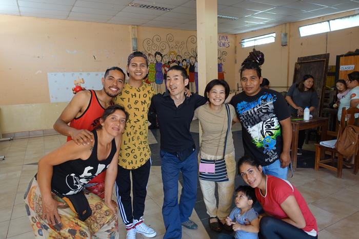 Circo del Sul(アルゼンチンのソーシャルサーカス)。金井さんの右側にいるのが栗栖良依さん。