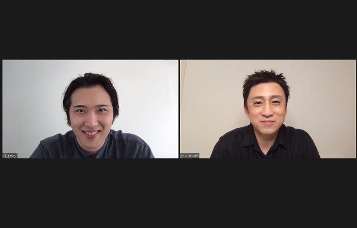 (右から)松本幸四郎、尾上松也 第一回『歌舞伎家話』取材会より