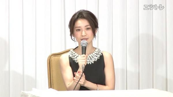 舞台「美幸」制作発表で話す大島優子