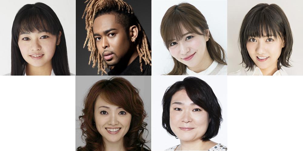 上段左より)吉柳咲良、 EXILE NESMITH、 河西智美、 宮澤佐江 下段左より)入絵加奈子、 久保田磨希