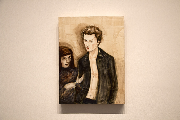 """Sid and His Mum"" 板に油彩 43.2 x 30.5 cm 1994 Collection of Meredith and Bryan Verona"
