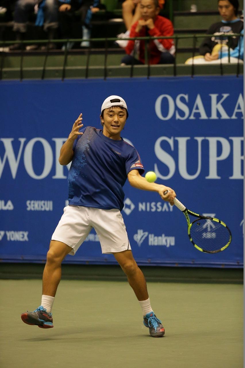 昨年の同大会シングルス優勝者の清水悠太選手
