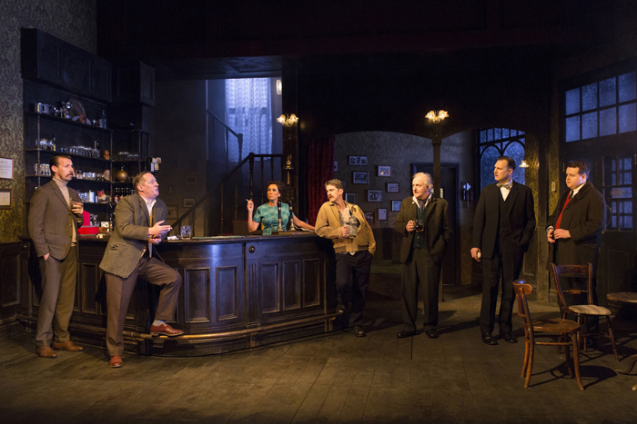 The Hangmen company (Photo by Tristram Kenton)