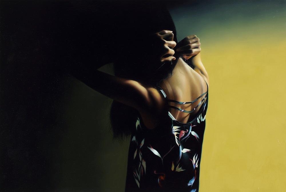 松川朋奈 《朝4時までは待っていて》 2015 パネルに油彩 130.3×194cm  Courtesy: Yuka Tsuruno Gallery, Tokyo