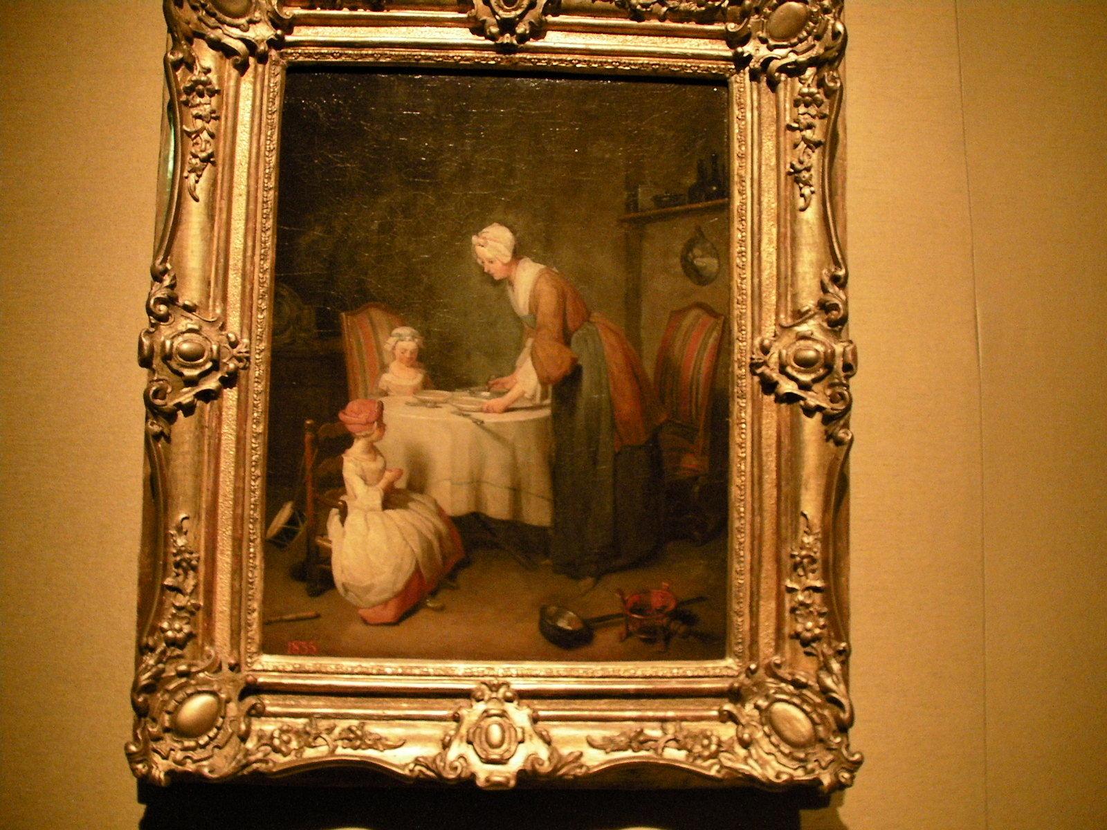 ジャン=バティスト・シメオン・シャルダン《食前の祈り》(1744)