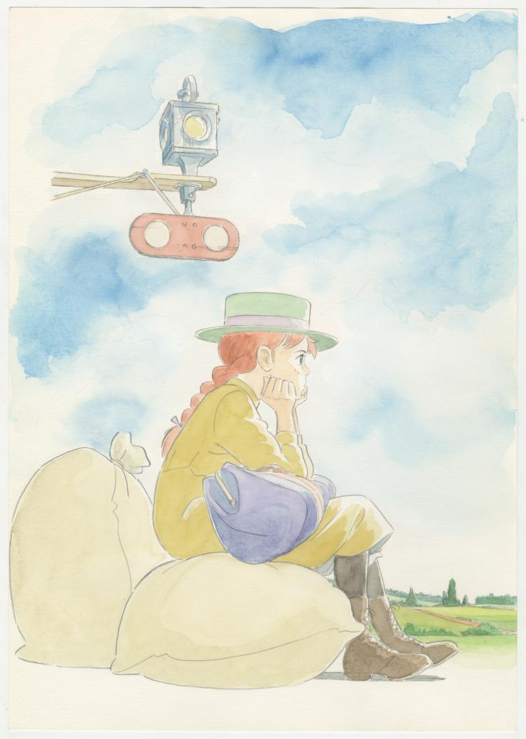 『赤毛のアン』LDボックス用イラスト 1992年  © NIPPON ANIMATION CO.,LTD