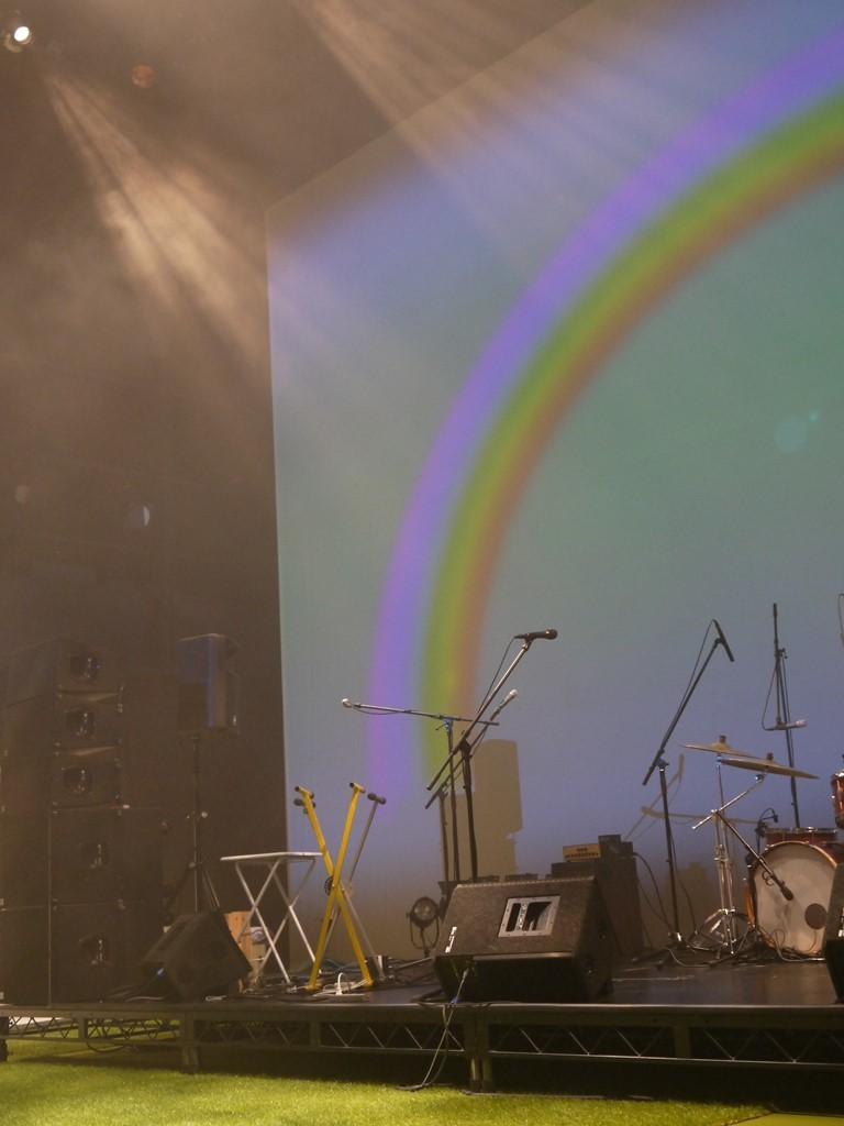 雨が上がって虹が出ました