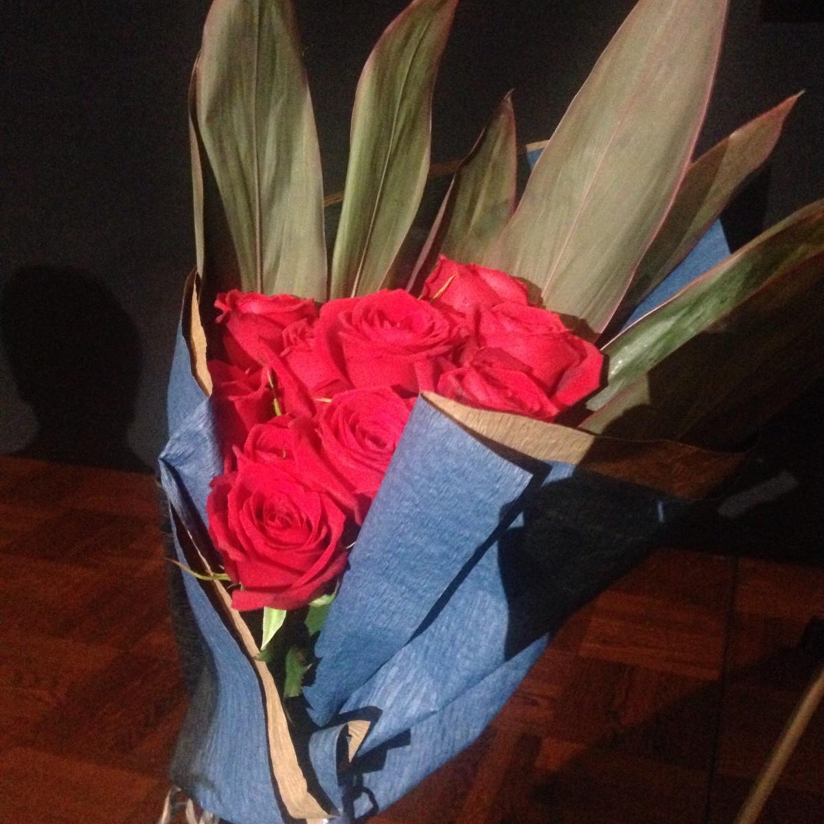 北村が手渡した花束