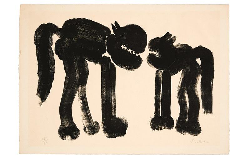 猪熊弦一郎 題名不明 1950年代 版画・紙 丸亀市猪熊弦一郎現代美術館蔵 ©The MIMOCA Foundation