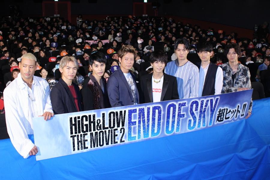 映画『HiGH&LOW THE MOVIE 2 / END OF SKY』左から 関口メンディー、NAOTO、中村蒼、黒木啓司、岩田剛典、鈴木伸之、町田啓太、山田裕貴