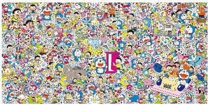 『THE ドラえもん展 TOKYO 2017』村上隆によるメインビジュアルを公開 奈良美智、増田セバスチャンの参加も決定