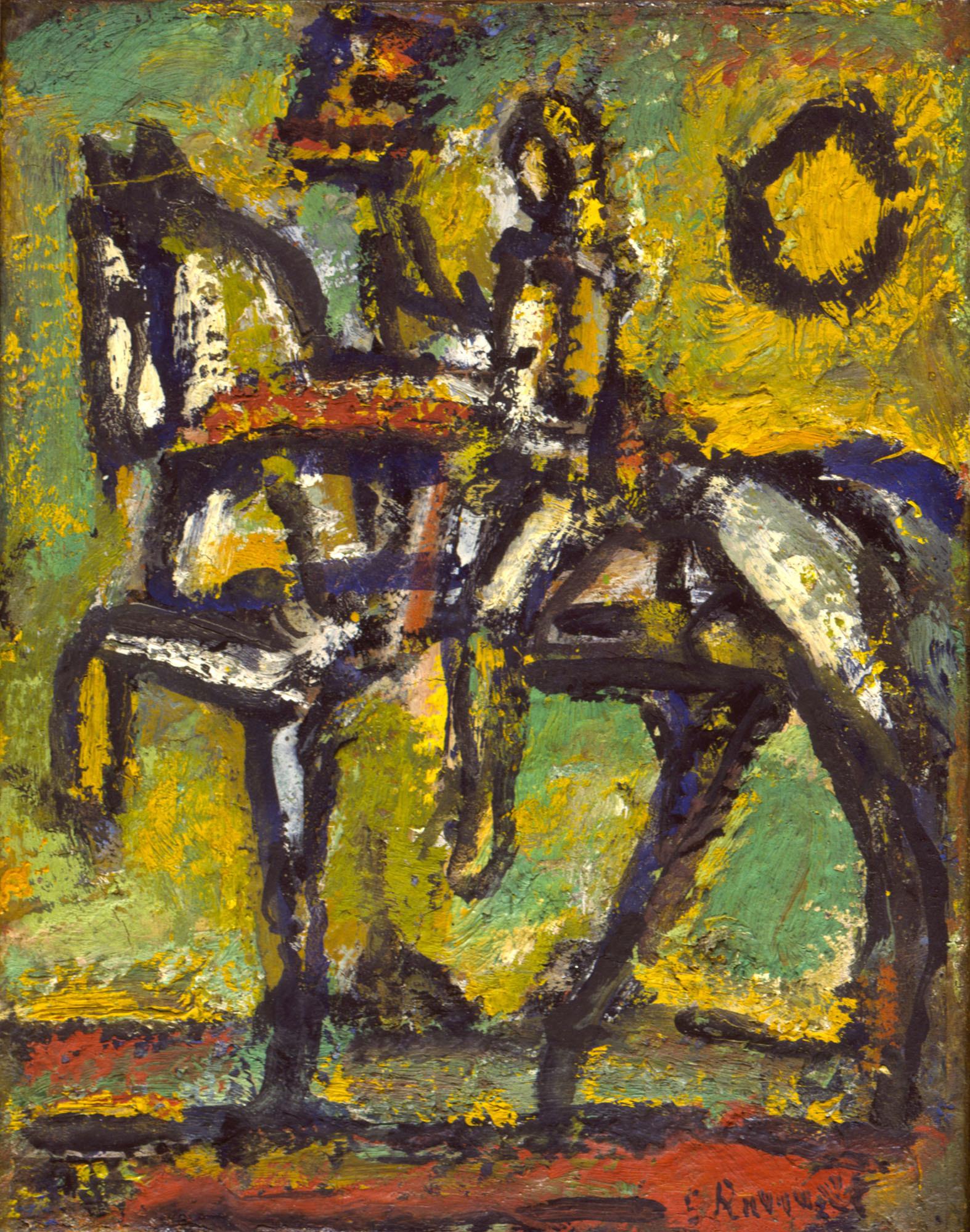 ジョルジュ・ルオー《聖ジャンヌ・ダルク》「古い町外れ」1951年 個人蔵(ジョルジュ・ルオー財団協力)、パリ