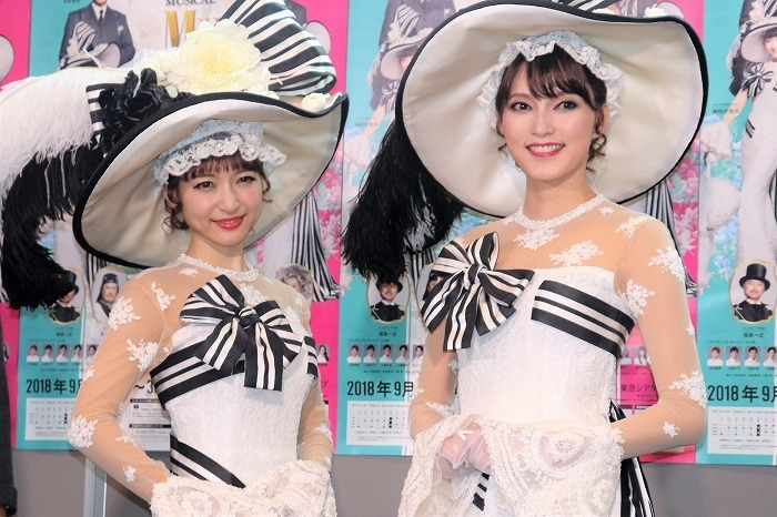 (左から)神田沙也加、朝夏まなと