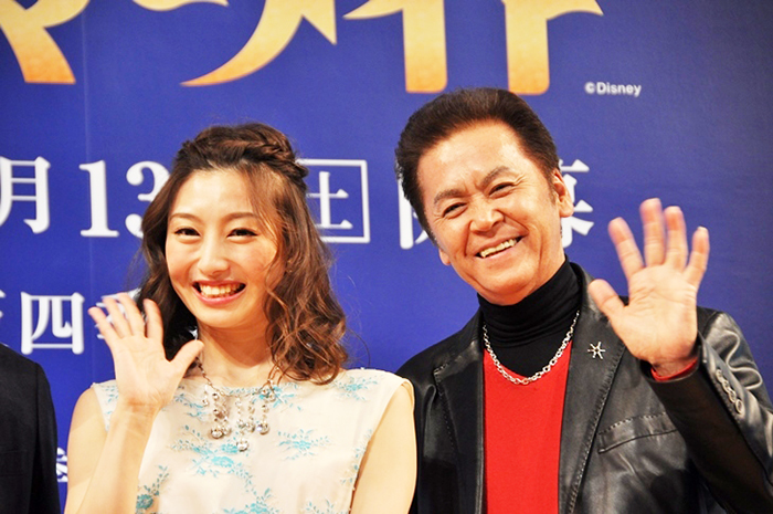 『リトルマーメイド』製作発表会より(左から)三平果歩、飯野おさみ [撮影]吉永美和子