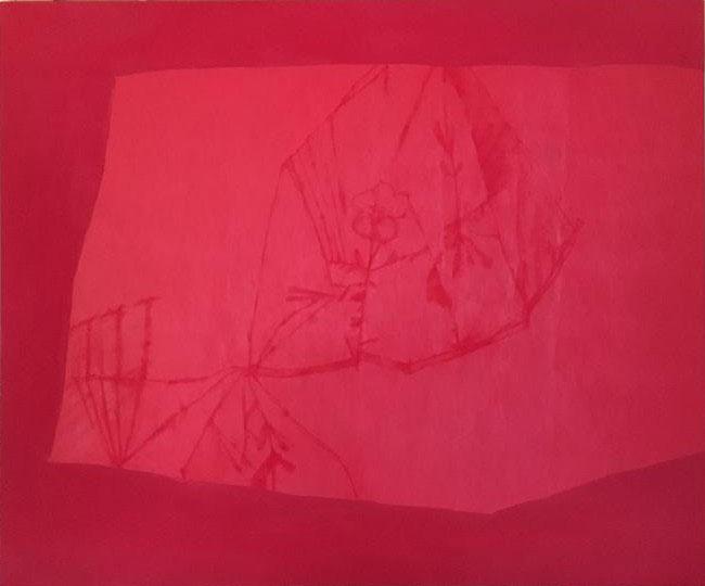川城夏未『あまつぶもっていって』 2014年 162×194cm 油彩・キャンバス