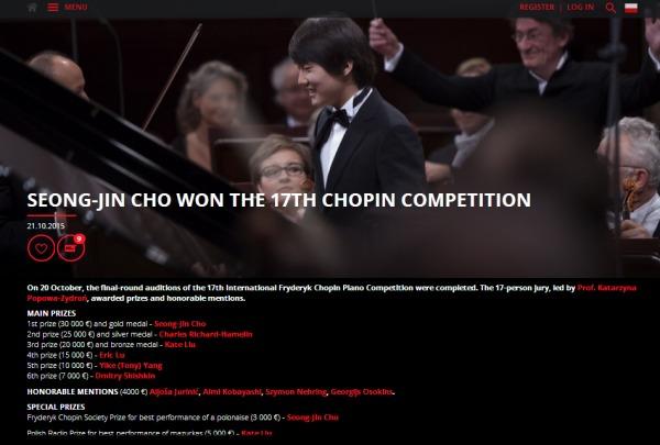 ショパン国際ピアノコンクール公式サイトより